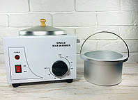 Воскоплав баночный в металическом корпусе на 400 мл Single WAX WARMER с терморегулятором, фото 1