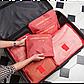 Набор дорожных органайзеров Laundry Pouch. Красные звезды, фото 2
