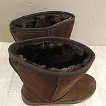 Угги шоколадные классические средние женские коричневые эко замша замшевые класичні жіночі уггі коричневі UGG, фото 2