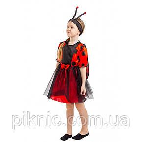 Детский карнавальный костюм Божья Коровка для девочки. Новогодний костюм, фото 2