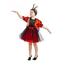 Костюм Божья Коровка для девочки 4-8 лет. Детский новогодний карнавальный костюм