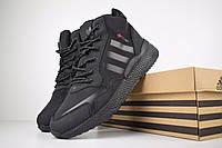 Мужские зимние кроссовки Adidas Jogger полностью черные