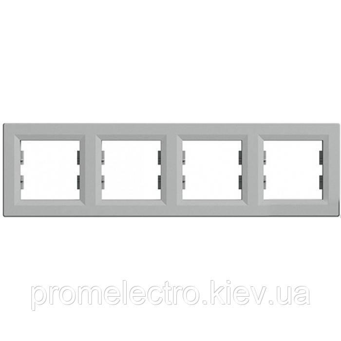 Рамка установочная 4-постовая алюминий ASFORA EPH5800461