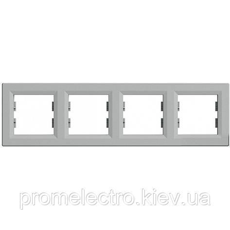 Рамка установочная 4-постовая алюминий ASFORA EPH5800461, фото 2