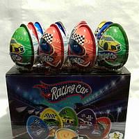 Яйцо шоколадное пластиковое 24 шт,11 грамм  Racing car.