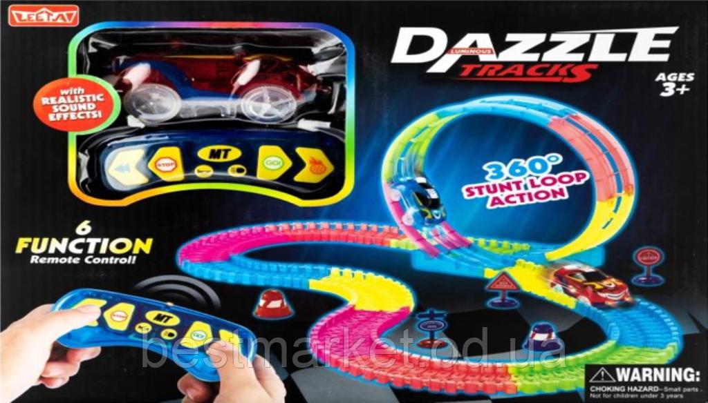 Дитяча Гнучка Чарівна Дорога Dazzle Tracks 187 Деталей з Пультом Управління