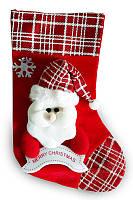 Новогодняя упаковка  Рождественский носок от 300 до 700 грамм