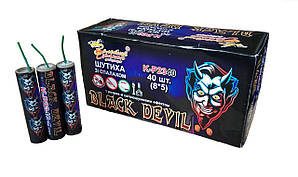 Фитильные петарды Black Devil P23 Р23 , 40 шт  Золотой Дракон
