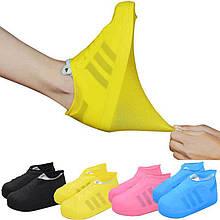 Силіконові бахіли L M S від дощу Waterproof silicone cover shoe