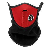 Флисовая защитная маска для лица, подбородка, шеи., фото 1