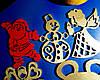 Дерев'яні іграшки на ялинку в коробці (колір-золото+червоний), набір ялинкових іграшок з дерева, фото 6