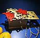 Дерев'яні іграшки на ялинку в коробці (колір-золото+червоний), набір ялинкових іграшок з дерева, фото 9