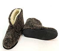 Тапки - Чуни из овечьей шерсти на подошве. Размеры - от 36 до 41