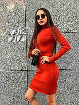 Вязанное платье в рубчик, 17 цветов!!! размер единый 42-50, фото 3