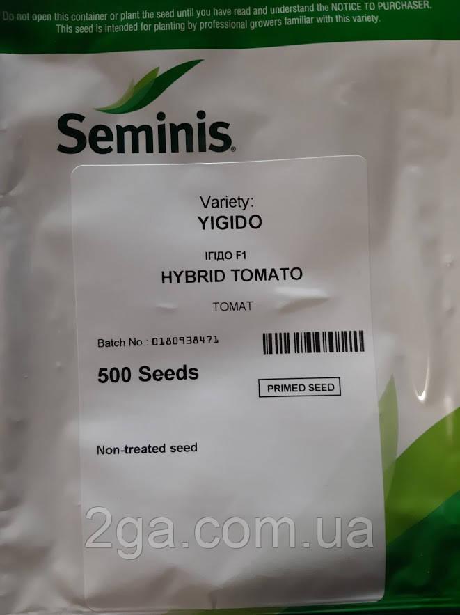 Игидо F1 / Yigido F1 - індетермінантний Томат, Seminis. 500 насінин