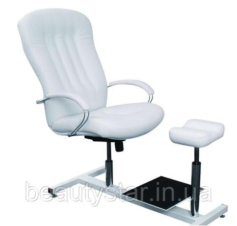 Педикюрное кресло с подставкой под ванночку и подножкой модель Partos Zestaw