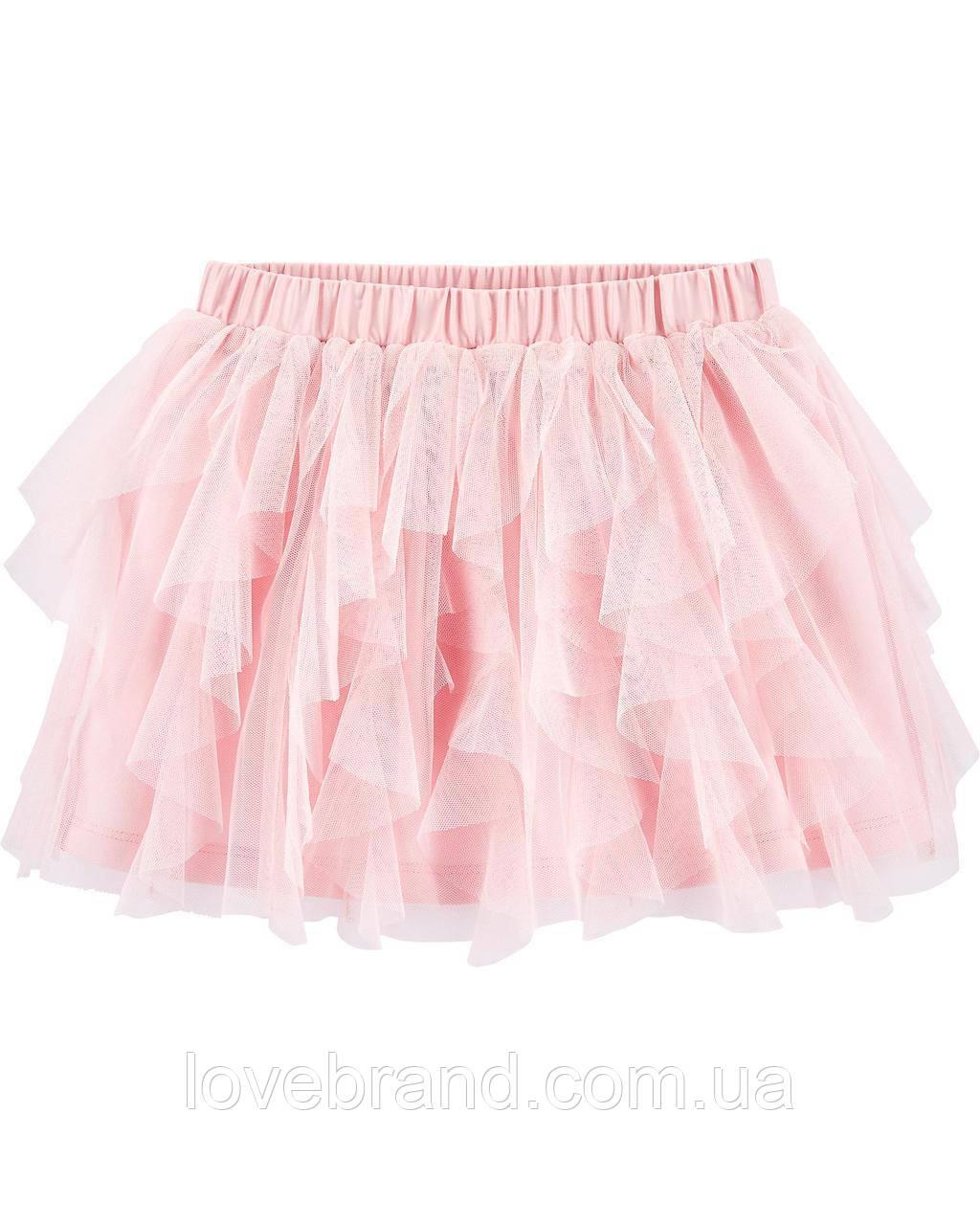 Пышная фатиновая юбка для девочки OshKosh, розовая юбочка туту