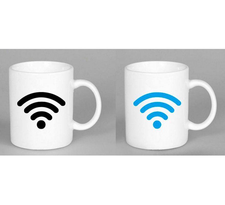 Чашка керамічна з терморисунком Wi-Fi