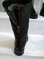 Сапоги женские  натуральная кожа  зимние  на широкую ногу сзади змейка  размеры 36  37