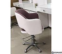 Кресло парикмахерское для клиентов парикмахера механизм подъема гидравлика (Польша) модель MONIKA