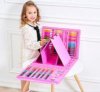 Набор для рисования детский  с мольбертом 176 предметов.