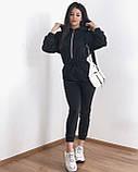 Комбинезон женский тёплый чёрный, серый, 42-44, 44-46, фото 6