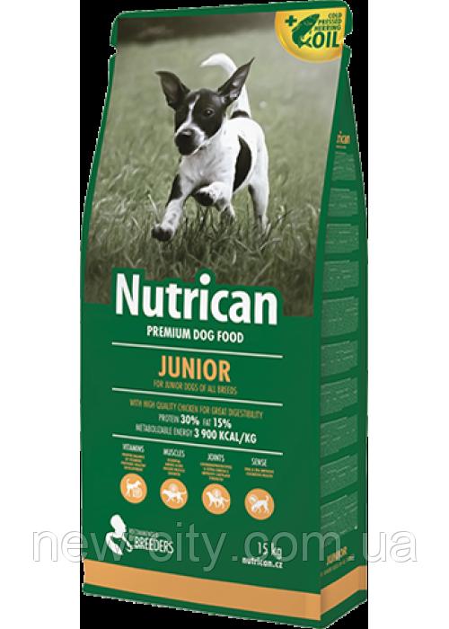 Nutrican Junior (Нутрикан) сухий корм для цуценят всіх порід (курка) 15кг
