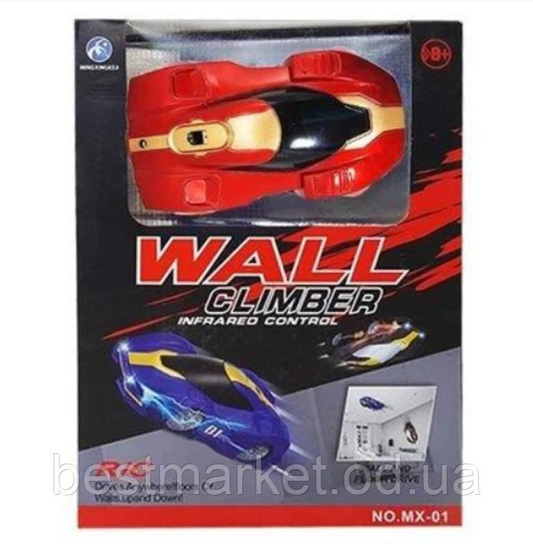 Детская Антигравитационная Машинка Wall Climber Красная