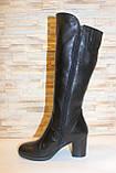 Сапоги женские зимние черные на каблуке натуральная кожа С827, фото 2
