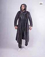 Піжама чоловіча з халатом махрова зимова тепла 48-56р.