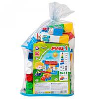 Конструктор крупные детали для детей пластик Макс(30 ел.) тм Технок