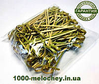 Бамбуковые шпажки узелок 90 mm ( 100 шт/уп ) палочки для канапе., фото 1