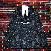 Чоловіча зимова куртка Bape x Adidas (ТОП репліка), фото 1