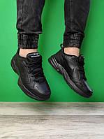 """Кроссовки мужские кожаные Nike Monarch  """"Черные"""" ОРИГИНАЛ найк монарх"""