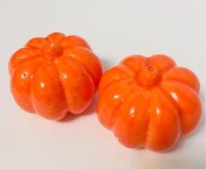 Муляж тыквы на Хэллоуин 7 см (2 шт)