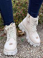 Ботинки женские зимние 6 пар в ящике бежевого цвета 36-40, фото 3