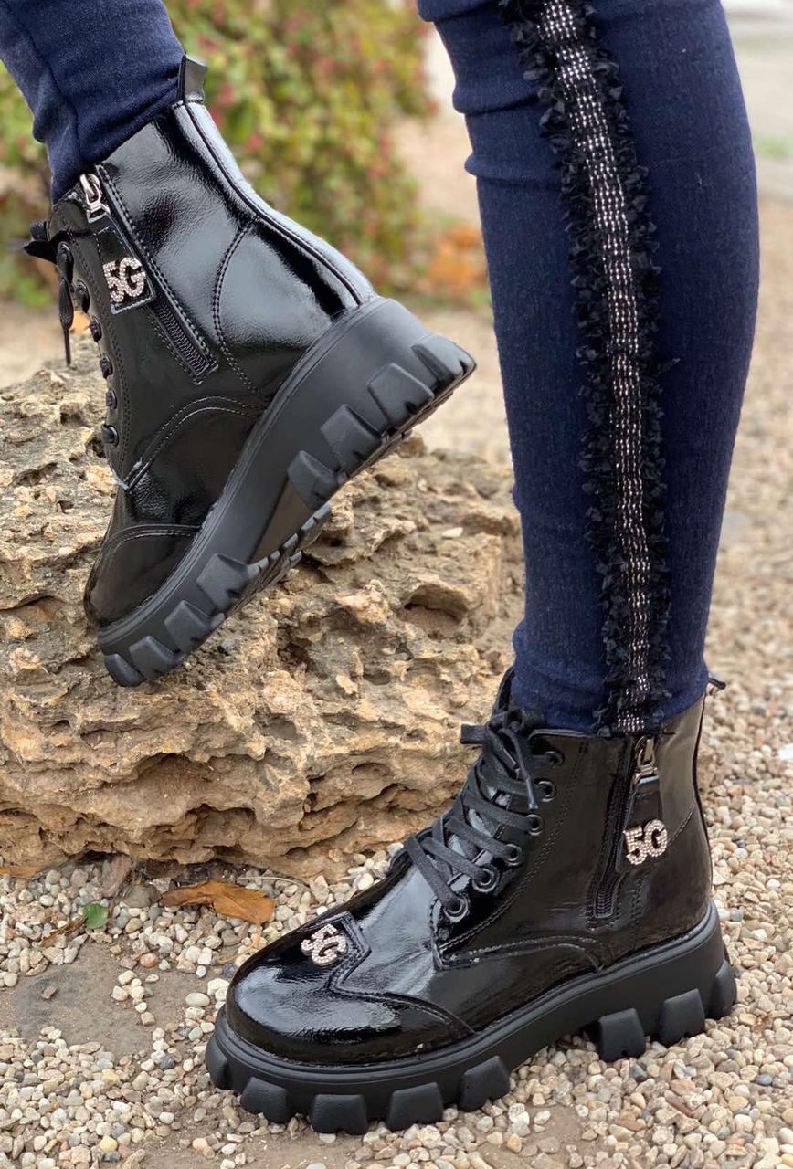 Ботинки женские зимние 6 пар в ящике черного цвета 36-40