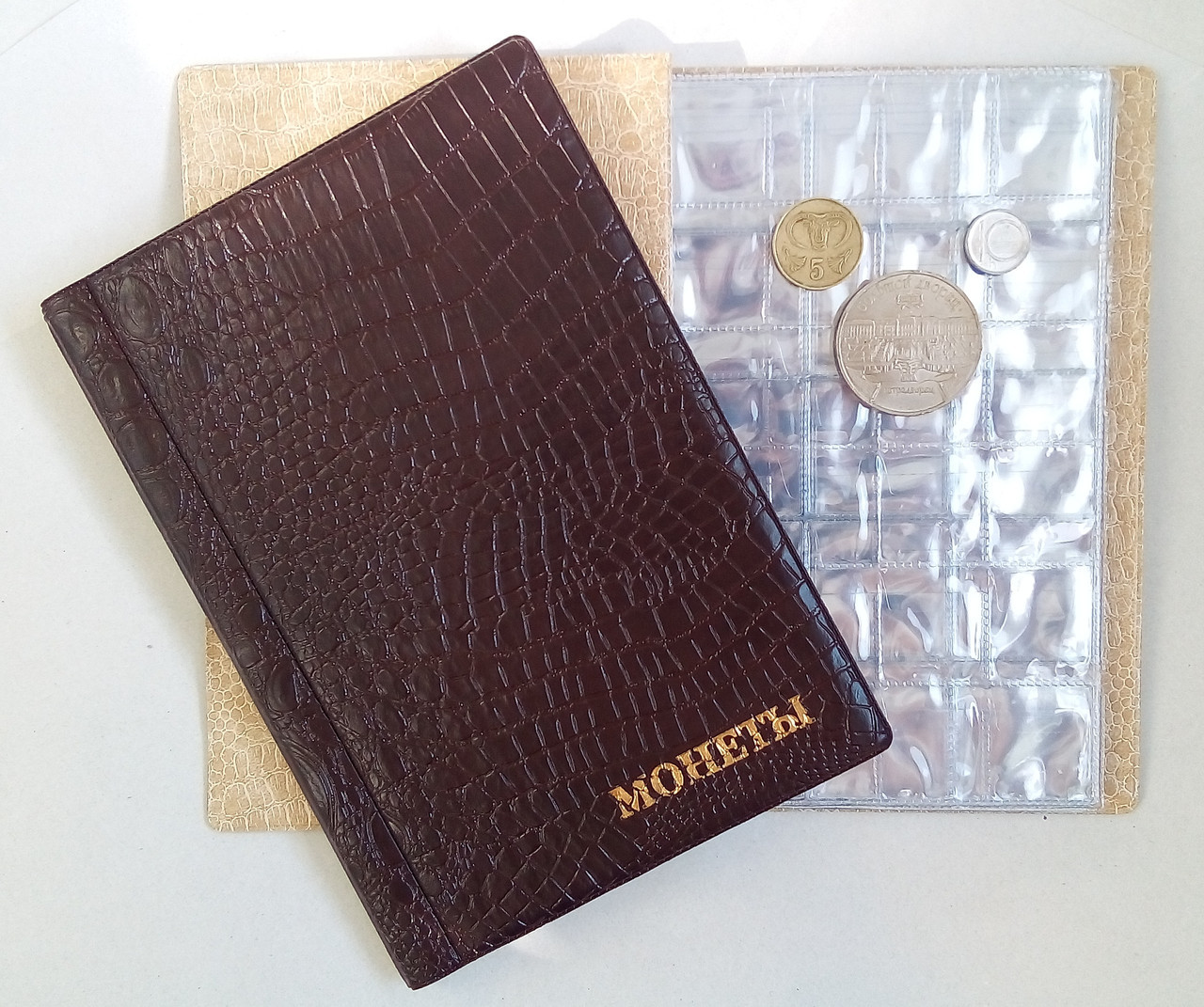 Альбом для монет  Микс Аллигатор 192 разные ячейки