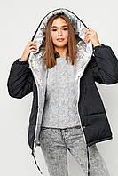 Двухсторонняя куртка женская зимняя с капюшоном, фото 1