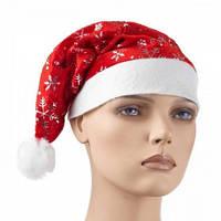 Новогодняя шапочка со снежинками 12 штук