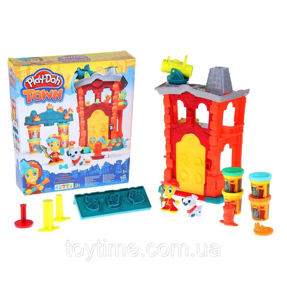 Набор для лепки Play-Doh Город Пожарная станция Hasbro