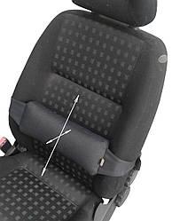 Ортопедична подушка EKKOSEAT під спину на крісло. Універсальна. Чорна, Сіра, бежева та ін.