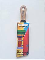 Кисть малярная угловая  с короткой ручкой  37 мм, фото 1