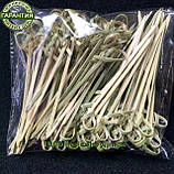 Бамбуковые шпажки узелок 150 мм ( 100 шт/уп )  палочки для канапе., фото 3