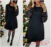 Платье с рукавами- шифон в расцветках 3910, фото 1