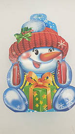 Новогодние коробки для конфет, Снеговик рукавичка уп 25 штук