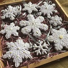 """Новогодний набор пряников """"Снежинки на елку"""""""