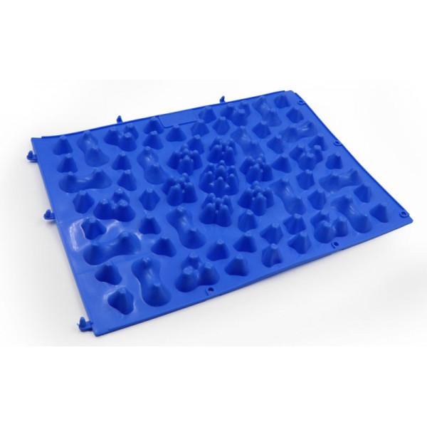 Детский ортопедический и массажный коврик-пазл OSPORT 27х38см (ZD-5082) Синий