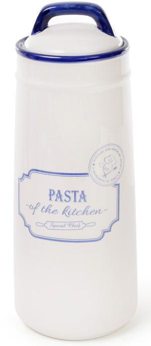 Банка керамическая Red&Blue PASTA 1400мл, синяя для хранения спагетти, пасты