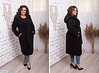 Утепленное женское пальто кашемир размер 54 арт 514